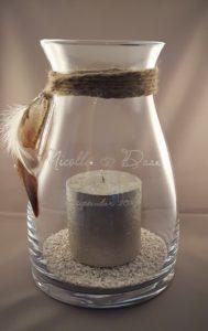 Herinnering in glas, persoonlijk windlicht voor bruiloft