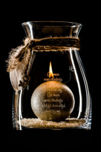 Windlicht herinnering in glas