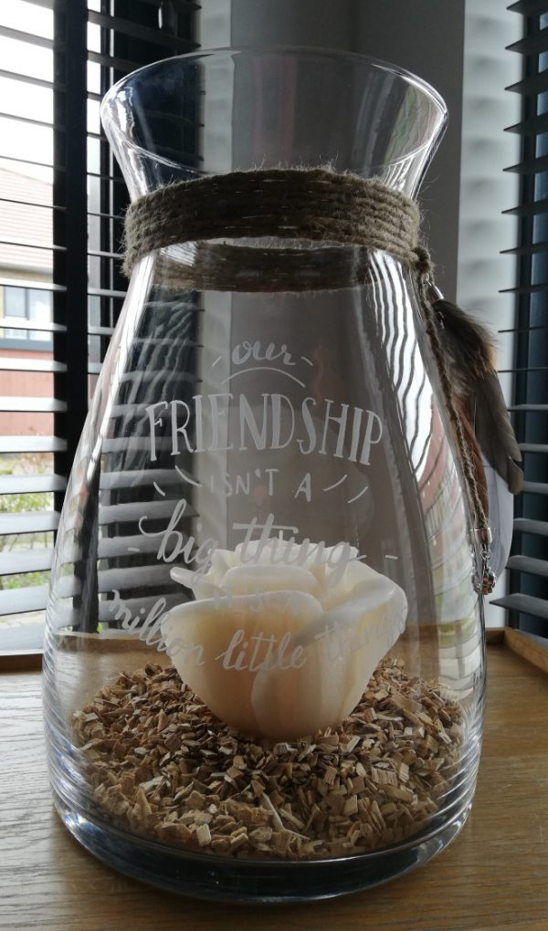 Windlicht Friendship